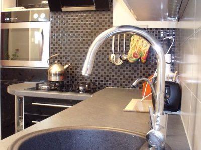 Кухонная столешница - постформинг, мойка - керамогранит