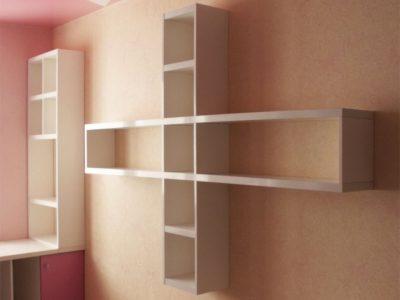Книжная полка в детской комнате