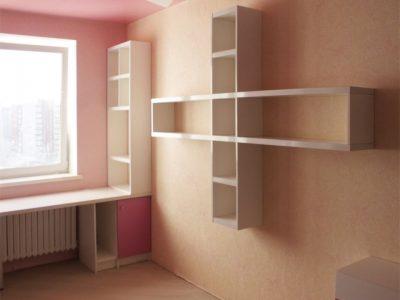 Книжные полки и стеллажи в детской комнате