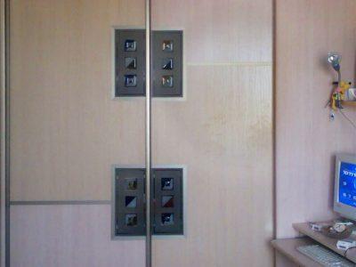 """Двери шкафа-купе со вставками """"фьюзинг"""""""