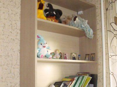 Книжные полки в детской комнате