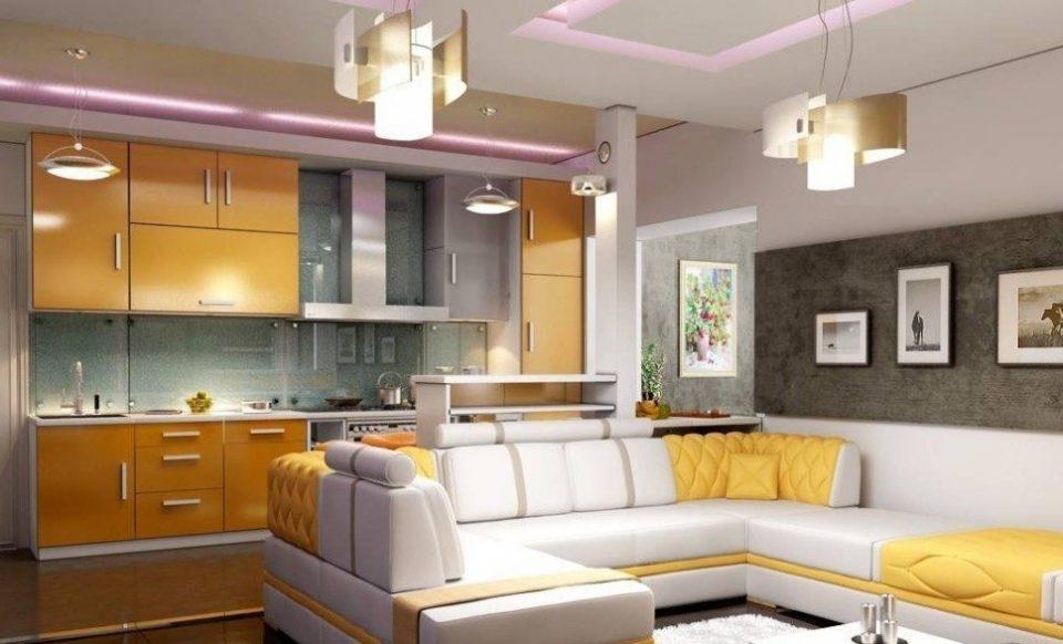 красивый дизайн кухни совмещенной с гостинной - Поиск в Google ... | 582x960