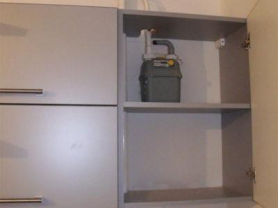 Как спрятать на кухне газовый счетчик