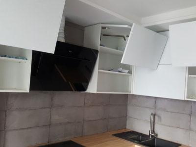 Кухонные фасады из белого акрила