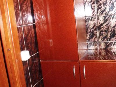 Шкаф в ванной, МДФ пленочная