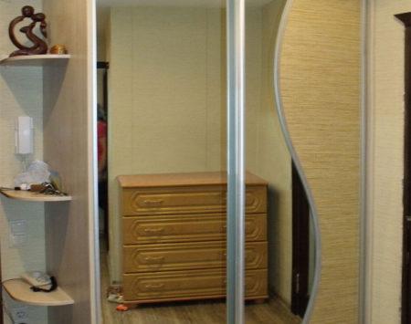 Шкаф-купе со вставками из бамбука