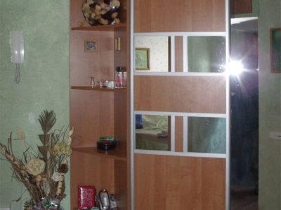 Двери купе с зеркальными вставками
