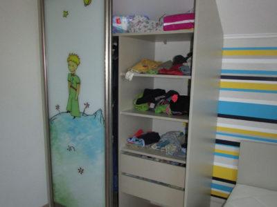 Наполнение шкафа-купе для мальчика