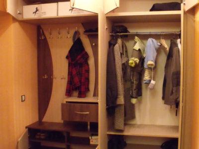 Наполнение распашного шкафа в прихожей