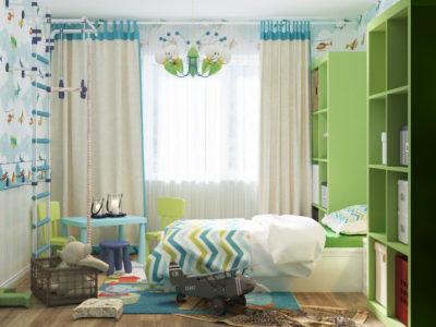 Дизайн проект комнаты мальчика